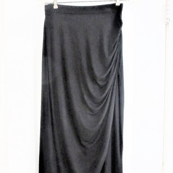 Worthington Dresses & Skirts - Black Maxi Skirt Ruched Side Perfect Condition